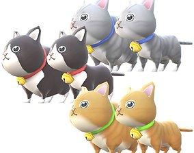 Lowpoly Animal Cartoon - Cat 3D model