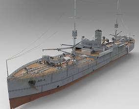 frigate USS Vestal in obj and 3ds formats