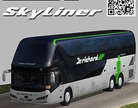 3D asset rigged Neoplan Skyliner bus Dr Richard livery