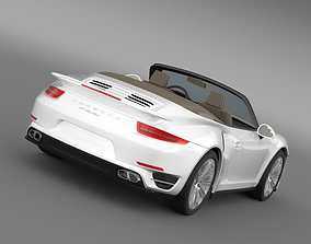 Porsche 911 Turbo Cabrio 2014 3D model
