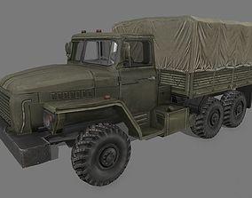 3D model VR / AR ready Ural 4320