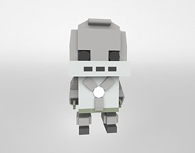 3D asset realtime Brick HeadZ 0101 Iron Man Mark 1