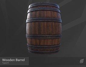 Wooden Barrel - Type A 3D asset