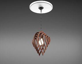 3D Wooden Designer Ceiling Lamp
