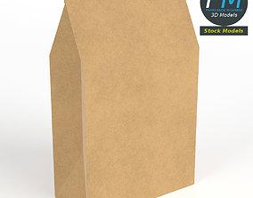 Closed paper bag 3D
