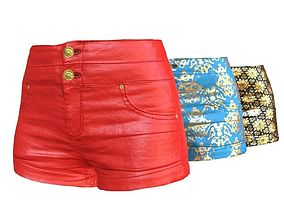 3D asset Summer Shorts Pants Jeans Variations