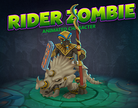Rider Zombie animated character 3D model