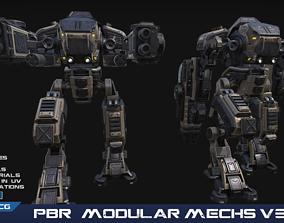 PBR Modular Mechs v3 3D model