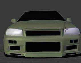 2002 Nissan Skyline GT-R Vspec II Nur 3D model