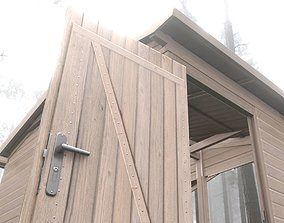 Wooden Market Stall -Version 1- 3D asset