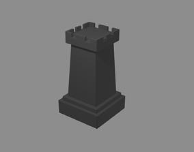 chess pieces rook 3D print model