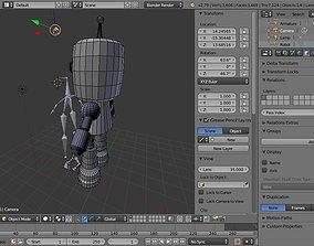 Roboto- the small helper robot 3D asset