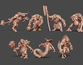 Monster bundle - 7 monsters 3D printable model character