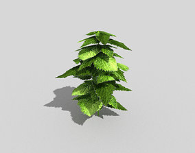 3D model low poly ground plant