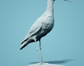 Zwarte Ruiter Low Poly Bird 3D print model