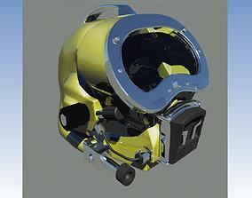 3D model Pro Diving helmet