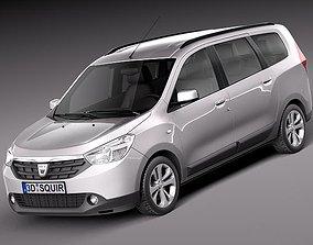 3D model Dacia Lodgy 2012