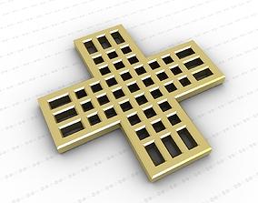 Cross church 3D model low-poly