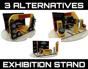3D model 3 Alternatives Fair Stand