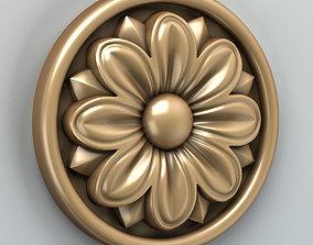 3D Round rosette 005