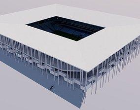 Nouveau Stade de Bordeaux 3D asset low-poly