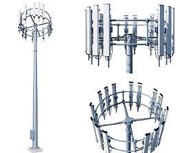 architectural Cell Tower 3D model