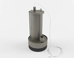 pump 3D model Pump submersible