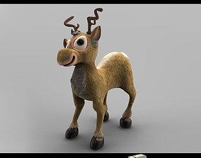 3d model of Christmas Deer digitallab3d