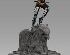 Batgirl Statue 3D print model