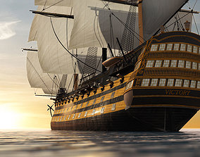 3D model HMS VICTORY SHIP
