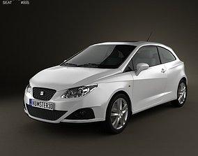 3D model Seat Ibiza Sport Coupe 3-door 2011