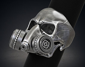 Skull Ring Gas Mask Respirator STL 3d model for 3d 1