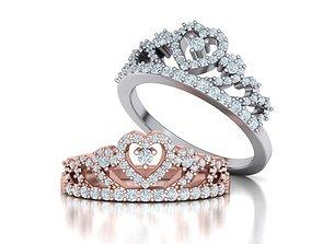 Queens Crown ring Tiara ring 3dmodel