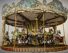 Vintage carousel photogrammetry raw 3D model
