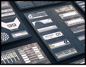 3D model SFDEMIR Sci-Fi Decal Pack 01
