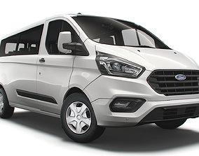 3D Ford Transit Custom Kombi Trend LWB UK spec 2020