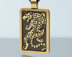 Tiger pendant for men 3D printable model