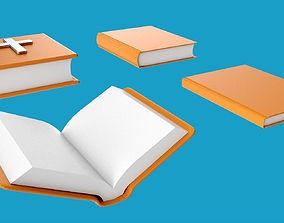 3D model Books including bible