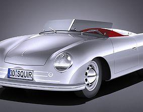 3D model Porsche 356 number 1 1948