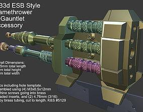 3D print model ESB Style Flame Thrower Mandalorian 1