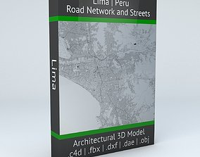 3D Lima Road Network and Streets