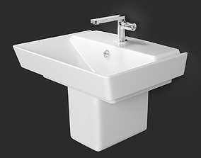 Wall-mount Bathroom Sink REVE 3D
