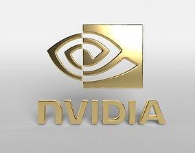 3D asset realtime Nvidia Logo v1 002