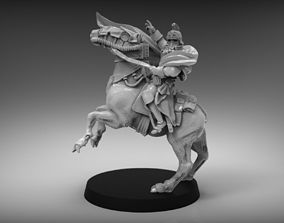 3D print model Sci-Fi Napoleon on horse