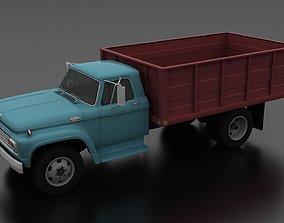 3D model VR / AR ready F-Series F-600 Grain Truck 1963