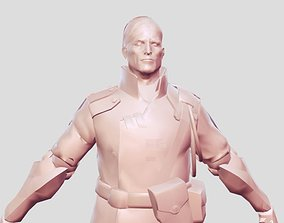 3D printable model man soldier old