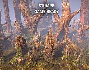 Stumps 3D asset