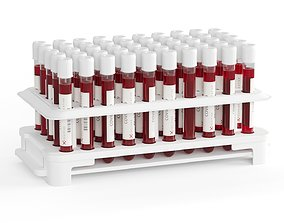 Test Tubes with Blood 3D asset