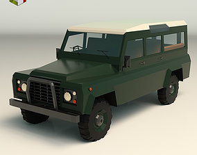 Low Poly SUV 02 3D asset