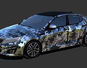 VR / AR ready Kia Optima Camo Skin 3D Model
